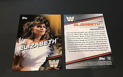 Miss Elizabeth - 2016 WWE Topps Gold Divas Revolution Jumbo 5x7 04/10 Produced