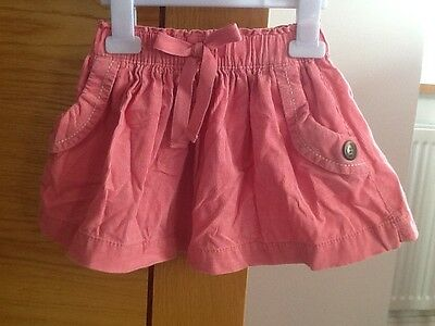 Girls Next pink cord skirt, age 12-18 months, immaculate condition!