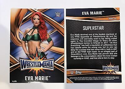 Eva Marie - 2017 WWE Topps Road To Wrestlemania Jumbo 5x7 01/49 Made