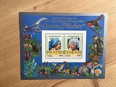 Tuvalu Nanumea Mnh 1985 Queen Mother 85Th Birthday Royalty Minisheet 02