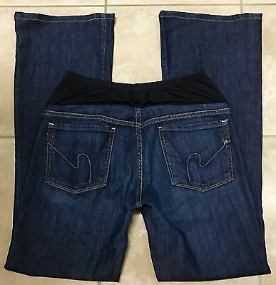 Citizens of Humanity Maternity Bootcut Stretch Blue Jeans size 30 x 32 1/2