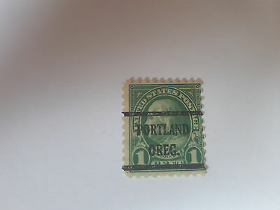 USA Briefmarke US Postage Franklin 1 Cent 1 c 594 ? used sehr selten VERY SCARCE