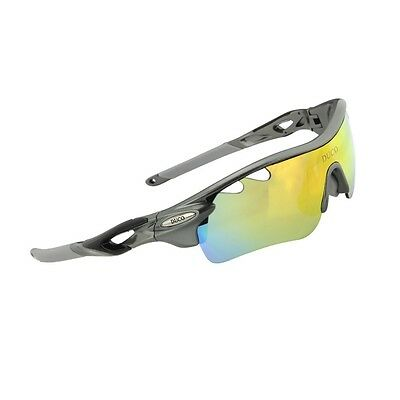 Duco POLARIZED Sports Sunglasses Cycling Glasses With 5 Interchangeable Lenses