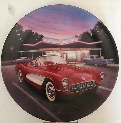 1957 Red Corvette Fabulous Cars of the Fifties Collector Plate
