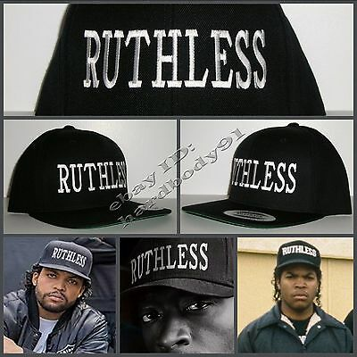 NEW Black Ruthless Snapback Hat Cap NWA Straight Outta Compton Eazy E Ice Cube