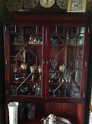 Reproduction Mahogany Effect Display Cabinet