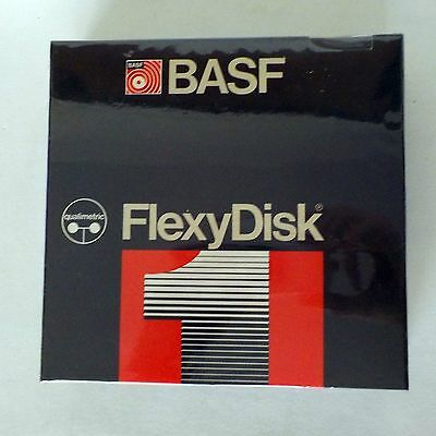 Diskettes BASF 5.25 Floppy New in Original Factory Sealed  10 Disks Box 1 side
