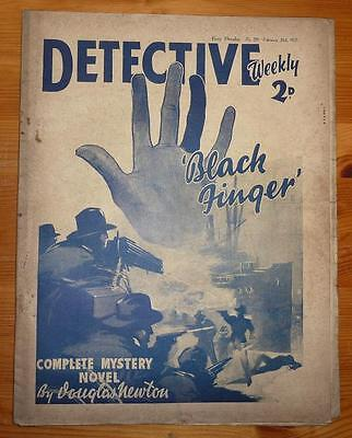 DETECTIVE WEEKLY No 209 20TH FEB 1937 BLACK FINGER BY DOUGLAS NEWTON