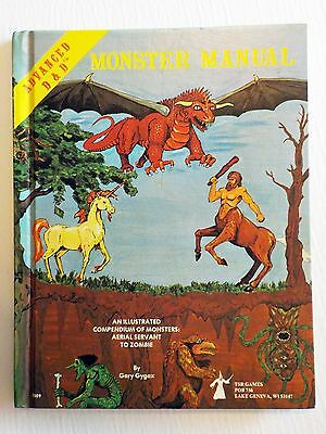 MONSTER MANUAL DUNGEONS & DRAGONS AD&D TSR 4th edition 1979
