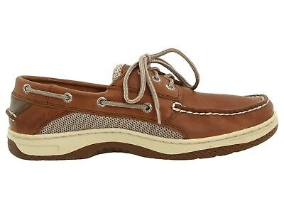 556e40fd78215 Men s Sperry Top-Sider Billfish 3-Eye Boat Shoes Dark Tan Leather All Sizes