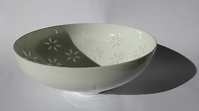 Vintage Large Arabia Rice Porcelain Rice Bowl by Friedl Holzer Kjellberg 1960/70