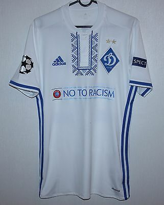 Dynamo Kiev Ukraine home match issue shirt 16/17 #32 Fedorchuk Adidas signed