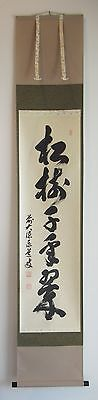 Japanese Hanging Scroll Painting ADACHI TAIDO Calligraphy