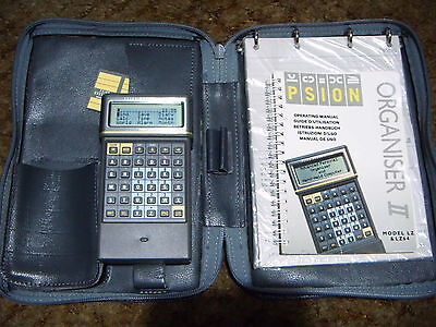 Psion Organiser 2 Model LZ64 with 64K data pack and Thesaurus and Spell checker