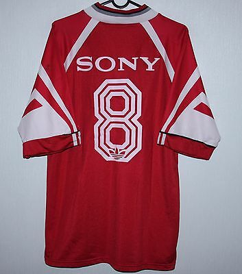 Vintage Adidas red shirt #8 Sony size L
