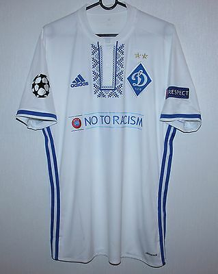 Dynamo Kiev Ukraine home match worn shirt 16/17 #16 Sydorchuk Adidas signed