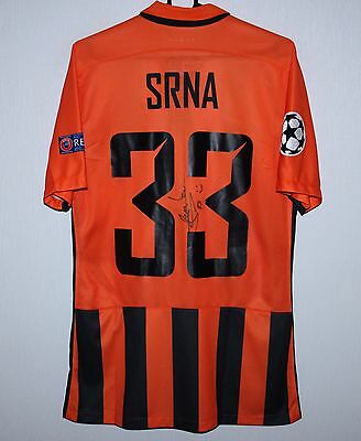 Shakhtar Donetsk Ukraine home match worn shirt 16/17 #33 Srna Nike signed