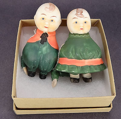 """Happifats Dolls ? Boy Girl or Sister Brother 3"""" Jointed Arms Bisque Porcelain"""
