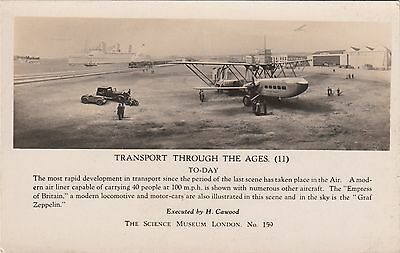 Transport Through the Ages unused London Science Museum RP Postcard