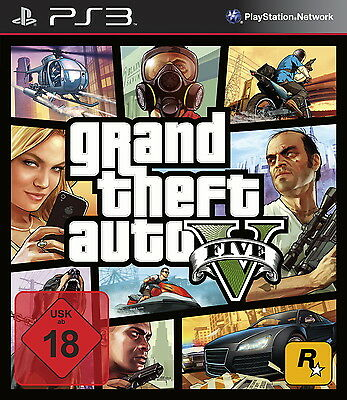 SONY PS3 Grand Theft Auto V PlayStation 3 GTA 5 deutsch USk18 gebraucht OVP TOP