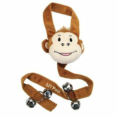 Puppy House Training Bell Monkey Face Toy Dog Alarm Buzz Out Scratching Whining