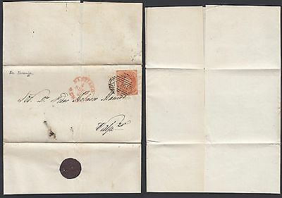 Chile 1861 - Precursor and used stamp from Santiago .............(G23809) DD-147