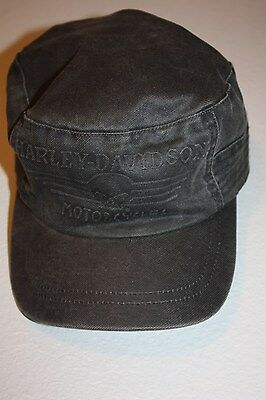 Harley Davidson -Hubcap Embroidered H-D Painter's Cap Black Wash Genuine HD sz M