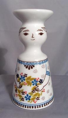 Altenkunstadt Germany Porcelain Lady Single Candle Stick Holder