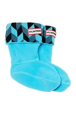 Hunter Geometric Dazzle Welly Socks (walker,toddler) Color Blue Size XL