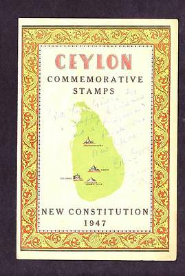 Ceylon -Commemorative Booklet - New Constitution 1947