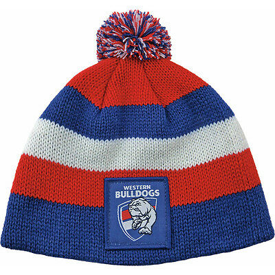 """Afl Western Bulldogs """"new Design"""" Baby/toddlers Beanie - Brand New"""
