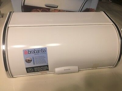 Brabantia Roll Top Bread Box - White, 2320.60 2 Loaves New In Box