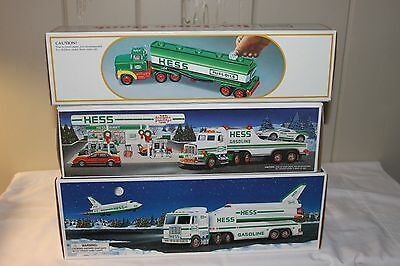 Three Mib Hess Toy Trucks 1984, 1991, 1999