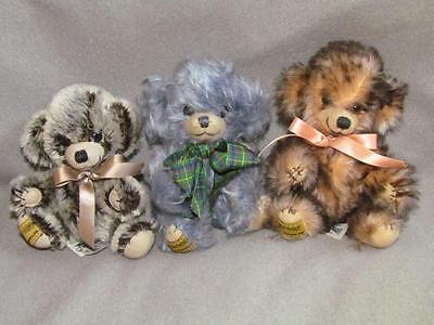 Merrythought 3 Mohair Bears England Limited Edition