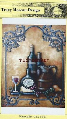Tracy Moreau Design, WINE CELLAR, Paper Painting Pattern, Tuscan, Tole, new