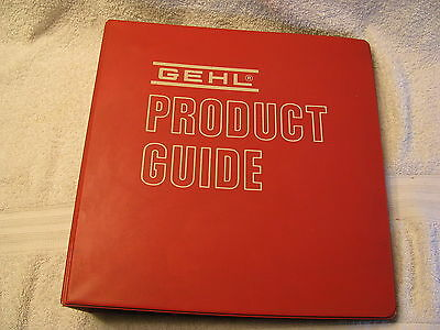 Gehl 1980s Salesman/Dealer Product Guide Clean and Nice! Whole Line.