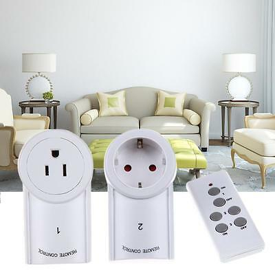 3 Pack Wireless Remote Control Outlet AC Power Socket Plug Home Light Switch