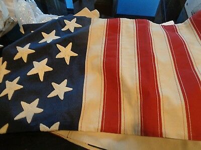 Pottery Barn American Flag embroidered lumbar pillow cover 16 x 26 New with tags