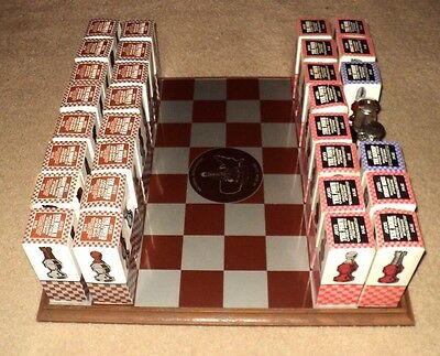 AVON CHESS BOARD & 32 PIECES: 1976 National Association Of Avon: Complete Set