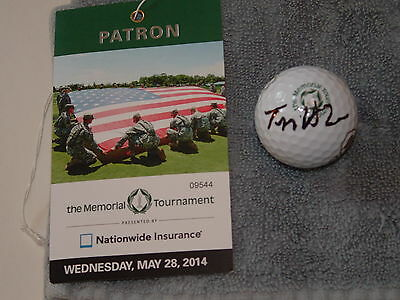 "Tom Watson Signed Auto ""The Memorial""-Logoed Nike Golf Ball, Hall of Fame"