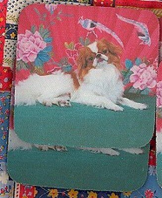 JAPANESE CHIN Rubber Backed Coasters #0993