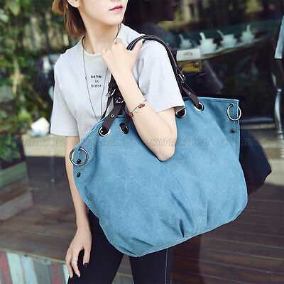 Women Handbag Shoulder Crossbody Tote Purse Canvas Satchel Messenger Bag Blue