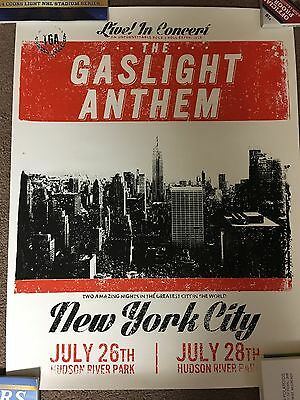 The Gaslight Anthem Poster NYC NY Brian Fallon / Horrible Crowes