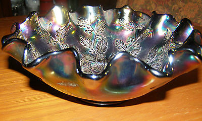Fenton Holly Carnival Glass Bowl