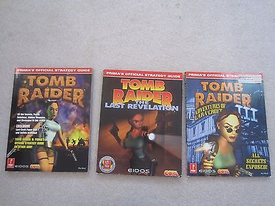 Set of 3 Tomb Raider Strategy Game Guides PS2 (w/ paper doll)