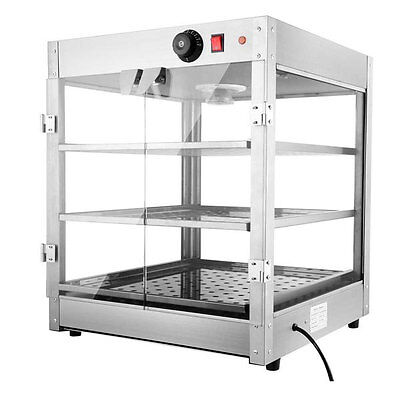 Commercial 3 Tier Food Warmer Display Case Pizza Cabinet 27454