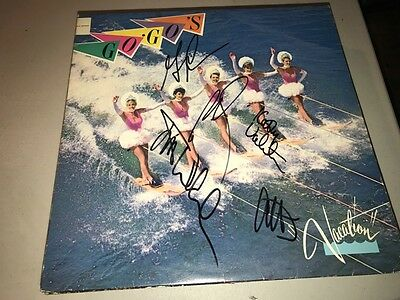 The Go Go;s GROUP Autographed Signed VACATION Album LP BELINDA CARLISLE +