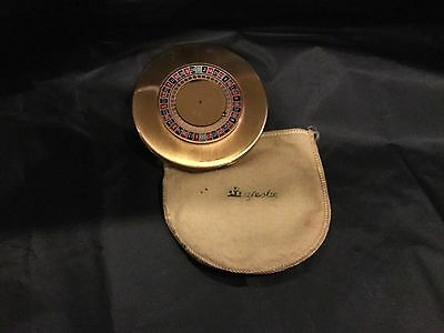 Vintage Roulette Wheel Compact by Majestic