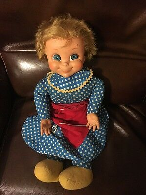 Mrs. Beasley 1967 Vintage Doll - Missing Glasses And Pull String Not Working
