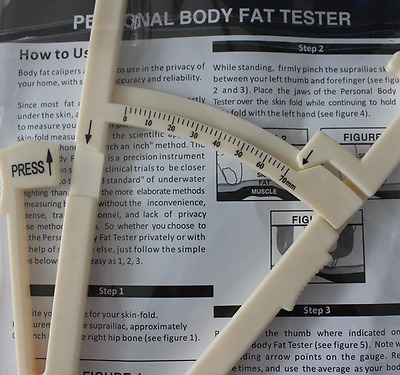 Keep Health New Personal Body Fat Caliper Tester Fitness#36